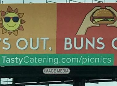 Sun's out, Buns Out - TC billboard