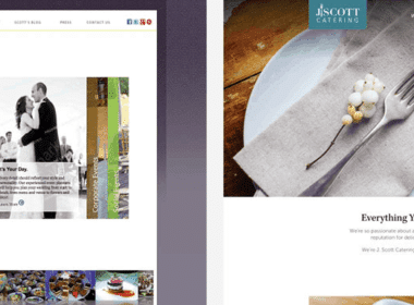 before and after catering websites designed by nuphoriq