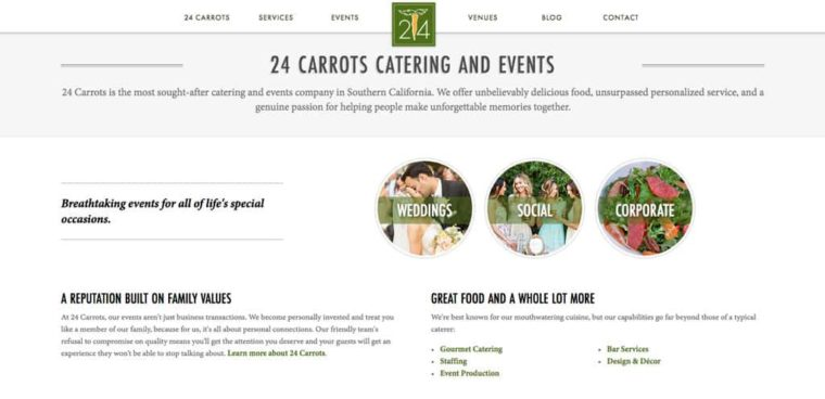 24 Carrots Website
