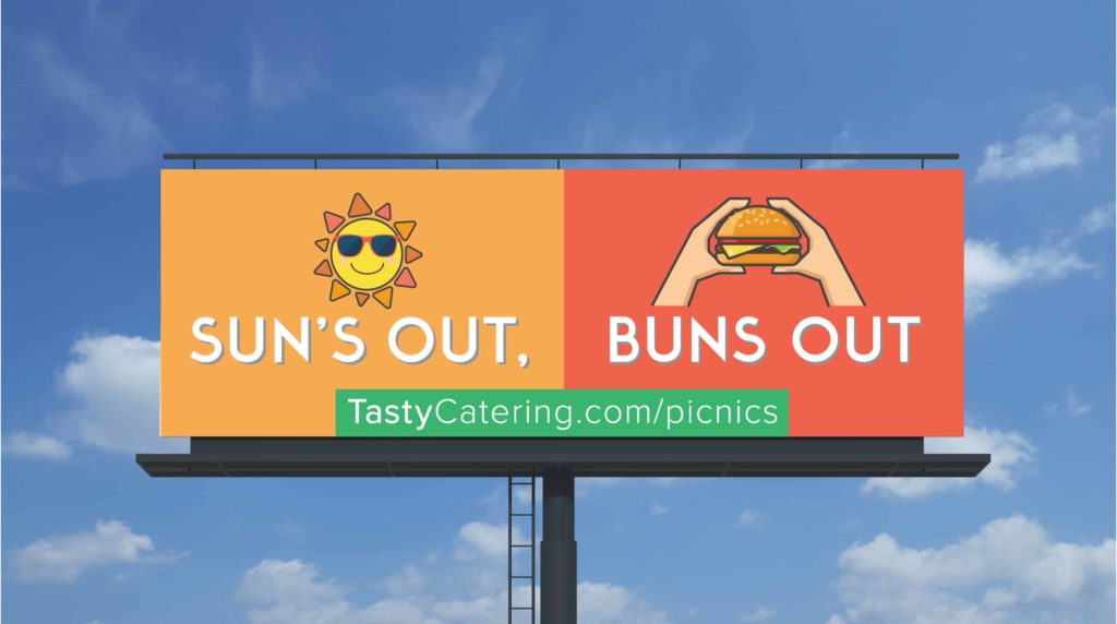 Tasty Catering Picnic Billboard