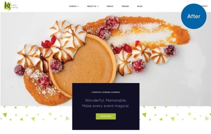BG Catering Website After