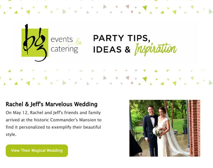 BG Events and Catering Newsletter