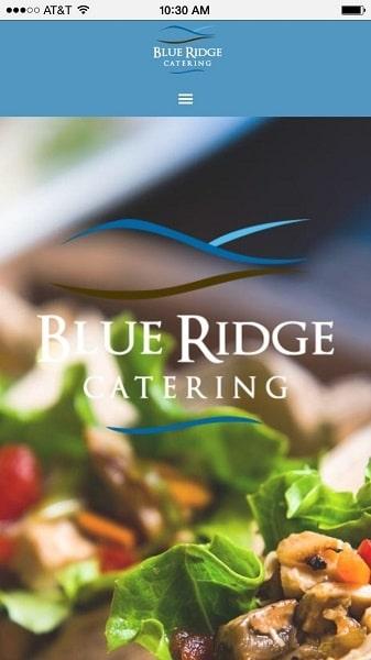 Catering Website Examples: Blue Ridge