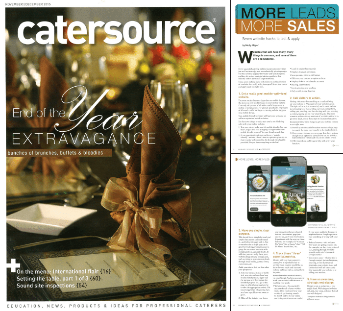 Catersource Magazine Feature