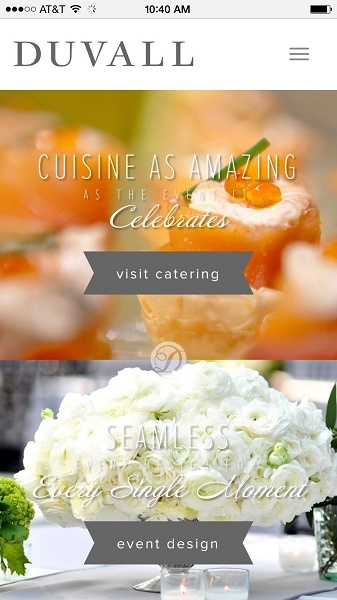 Catering Website Examples: Duvall catering