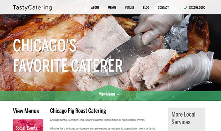 Tasty Catering Picnic Landing Page