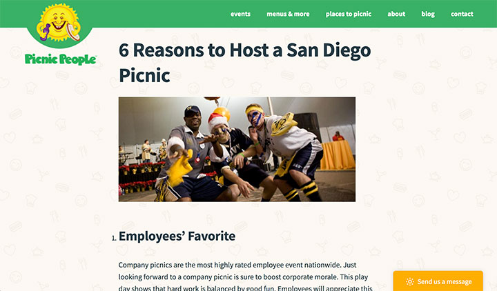 6 Reasons to Host a San Diego Picnic Blog