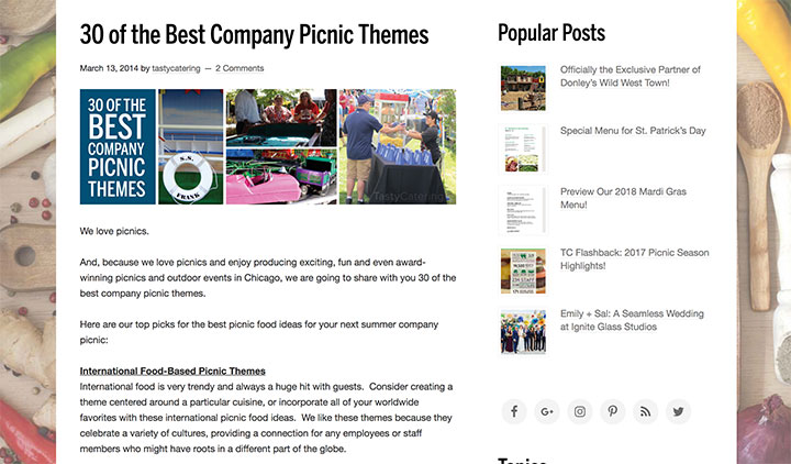 30 of the Best Company Picnic Themes