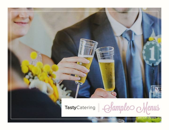 Wedding Marketing Menu from Tasty Catering