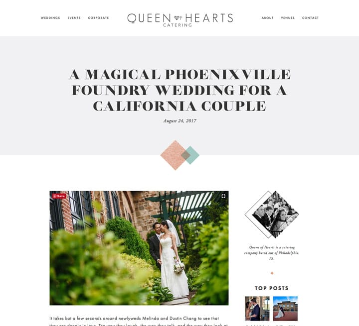 Queen of Hearts Catering Wedding Case Study