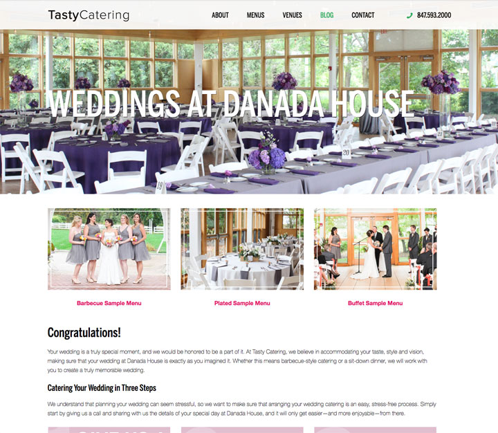 Featured Venue Landing Page