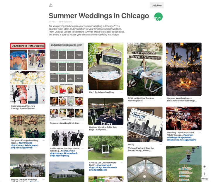 Summer Weddings in Chicago Tasty Catering Pinterest