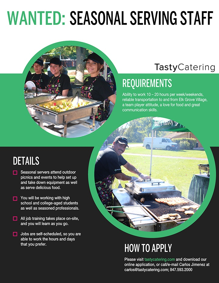 Tasty Catering Picnic Server Ad