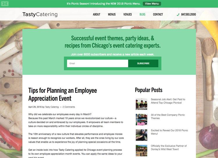 Tasty Catering Employee Appreciation