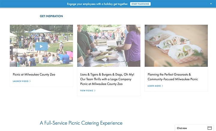 Zilli Hospitality Group Picnic Landing Page