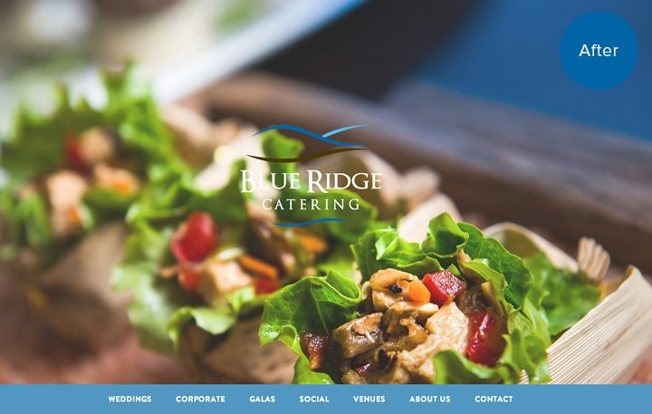 Blue Ridge Catering Website After