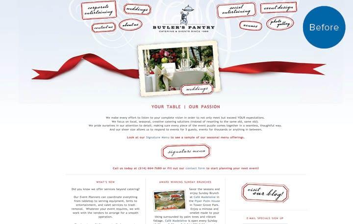 Butlers Pantry Website Before