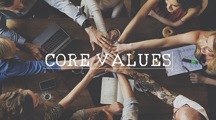 Core values bring your team together and give you a guidepost for decision making.