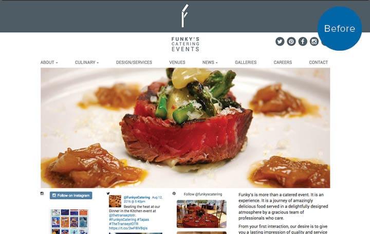 Funky's Website Before