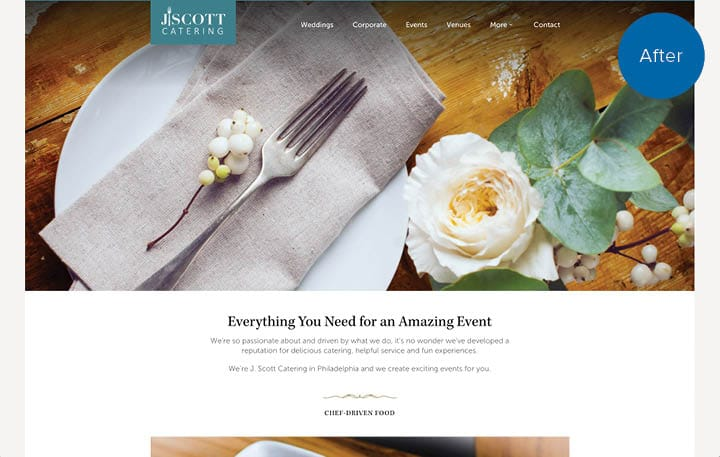 J. Scott Catering Website After