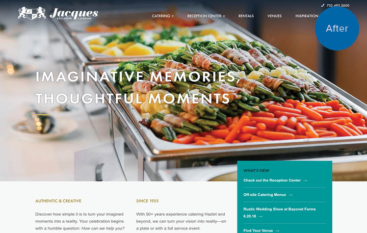 Jacques Catering Website After