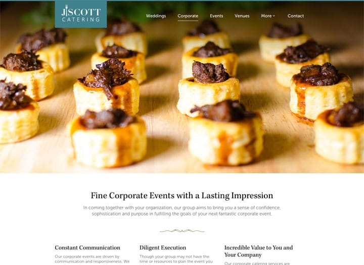 J. Scott Catering Corporate Dedicated Page
