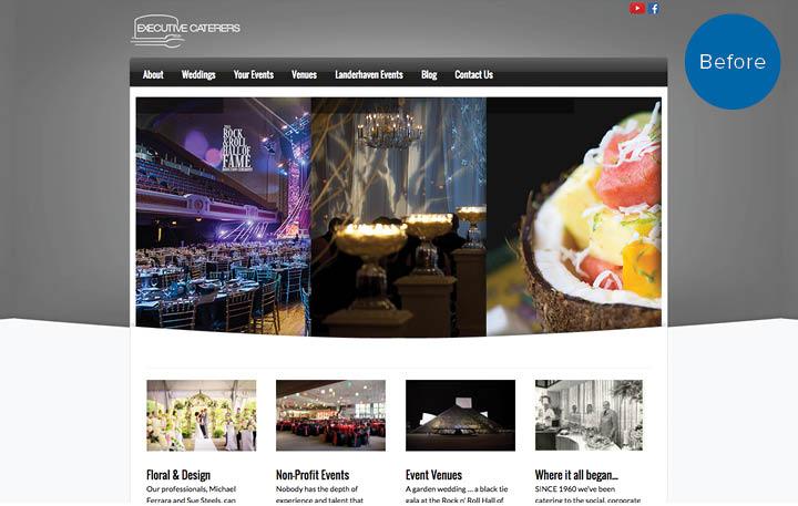 Landerhaven Website Before