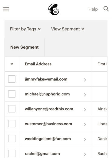 Email list optimization in Mailchimp