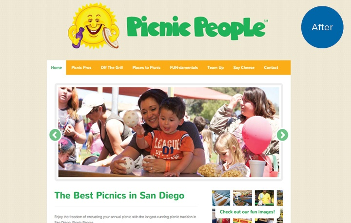 Picnic People Website After