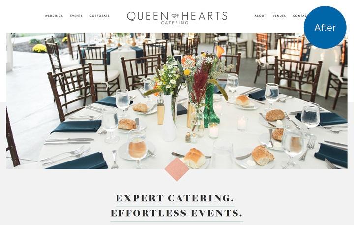 Queen of Hearts Catering Website After