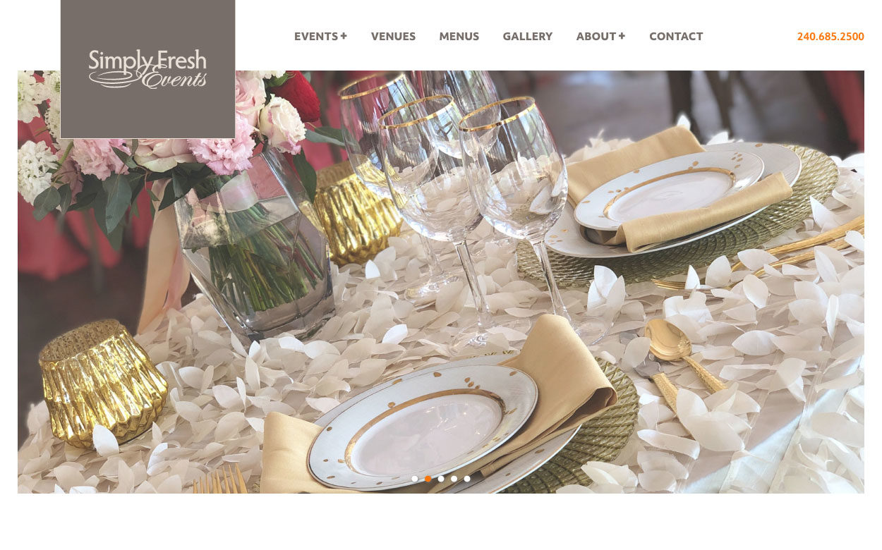 Simply Fresh Events home page