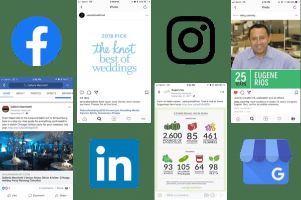 Catering social media examples