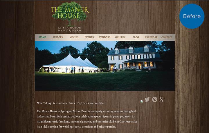Springton Manor Farm Website Before