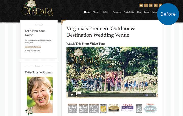 Sundara Website Before