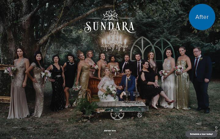 Sundara Website After
