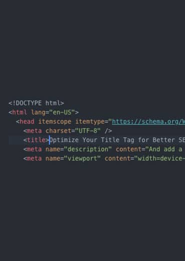 Title and meta tags in website source code