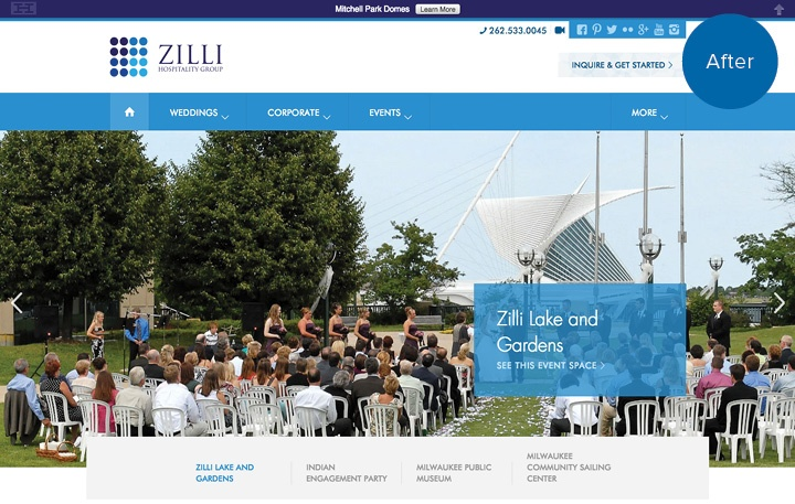 Zilli Hospitality Group Website After