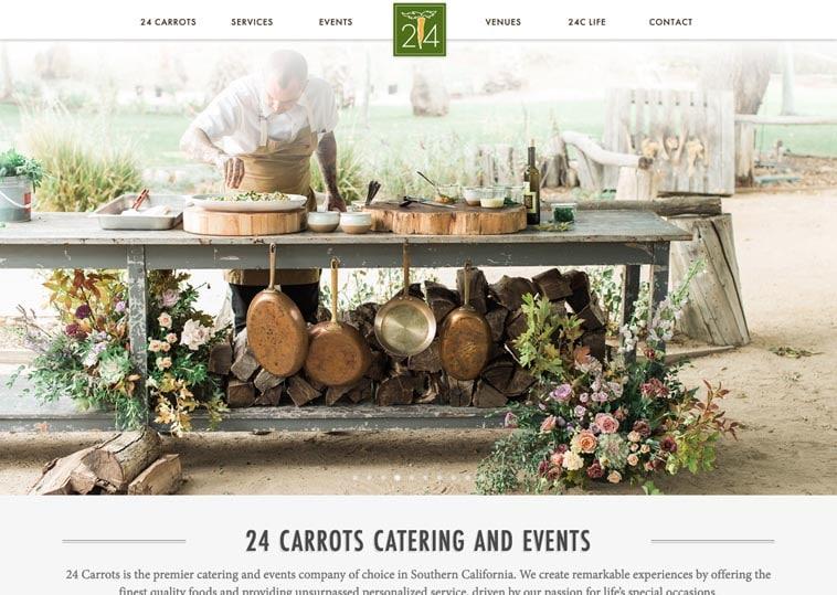 24 Carrots Catering & Events website screenshot