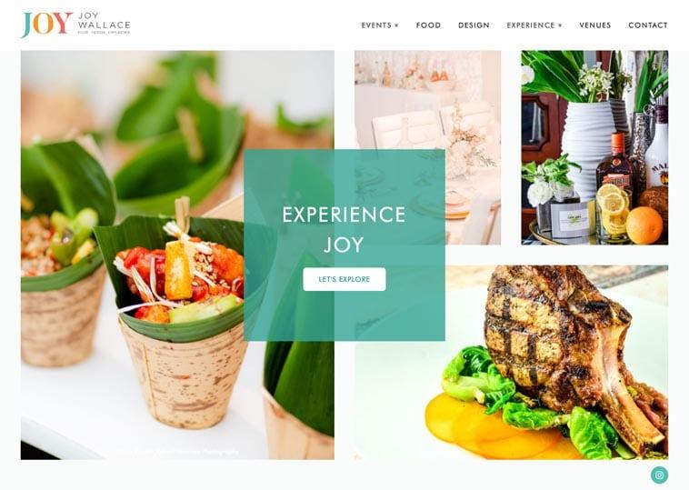 A Joy Wallace website screenshot