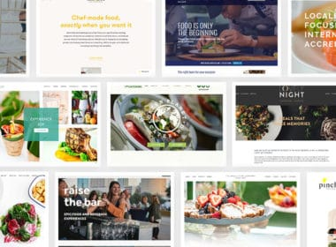 Collage of the best catering websites