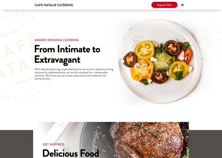 Cafe Natalie Catering website screenshot