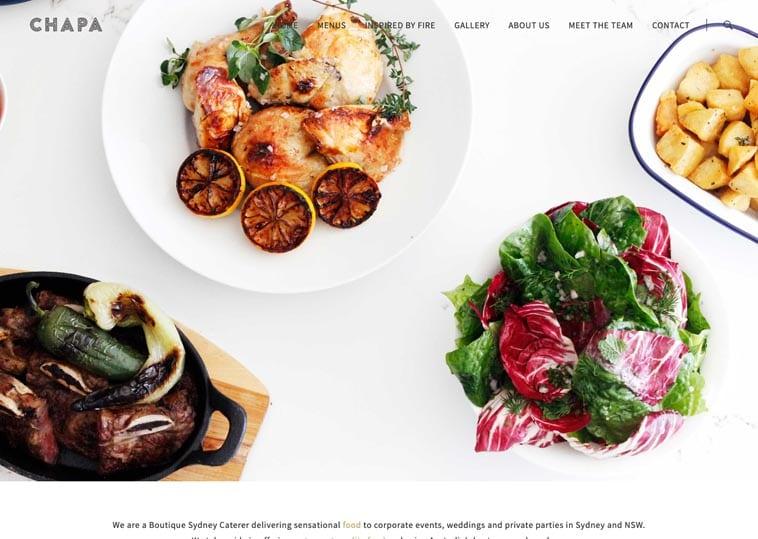 CHAPA Catering website screenshot