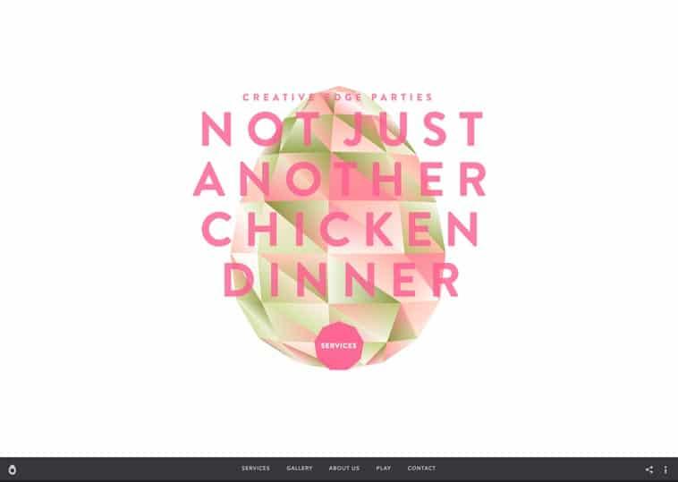 Creative Edge Parties website screenshot