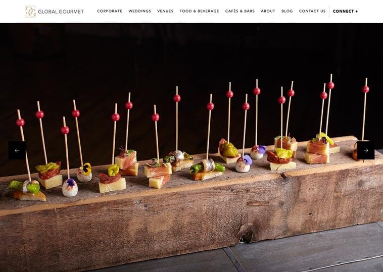 Global Gourmet home page screenshot