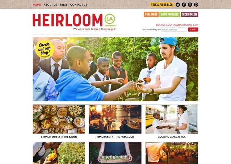 Heriloom LA website screenshot