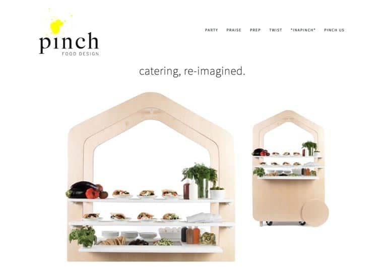 Pinch Food Design website screenshot