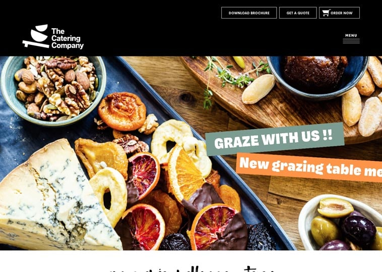 The Catering Company website screenshot