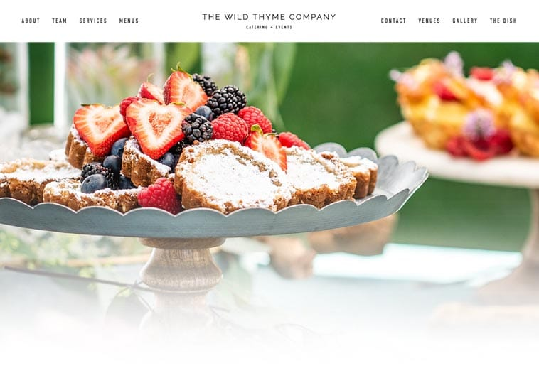 The Wild Thyme Company website screenshot
