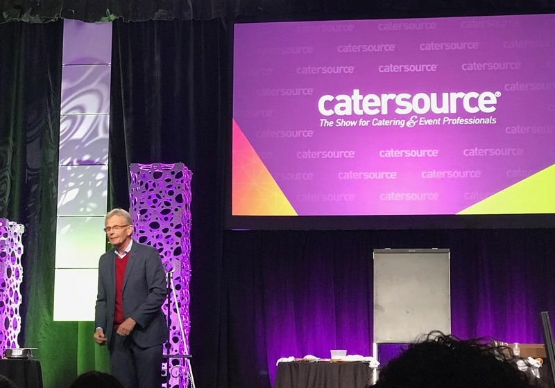 Bill Hansen speaking at Catersource 2019