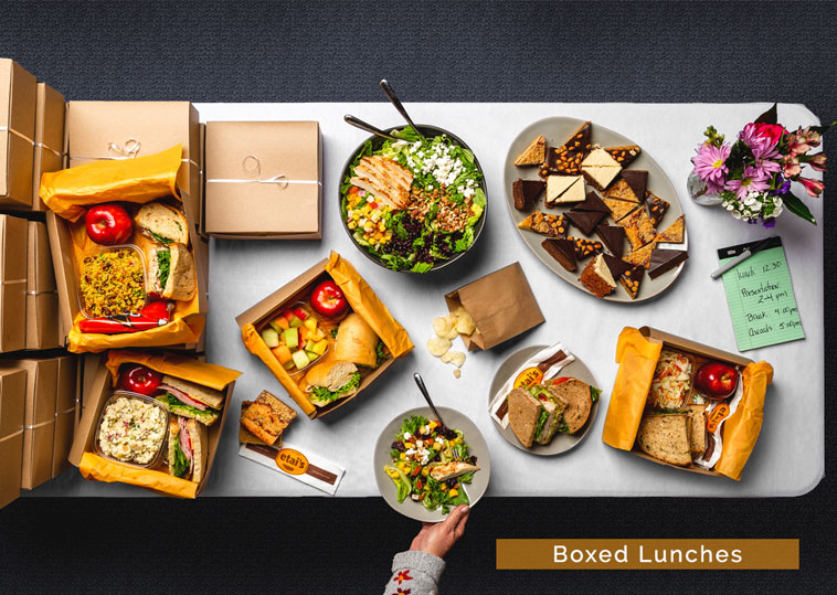 Etai's Catering meal box design